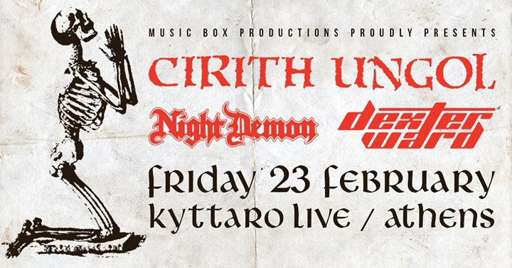 Cirith Ungol, Night Demon & Dexter Ward Live In Athens